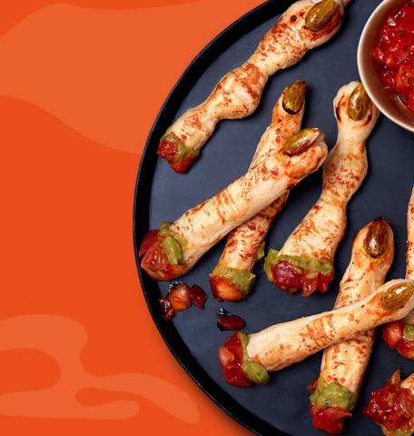 Colourful witches fingers  recipe image