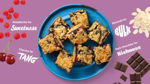 Sweet and summery berry crumble bars