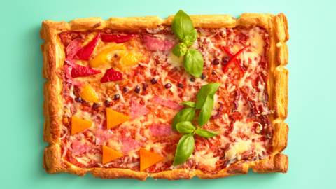 Treasure map pizza tart