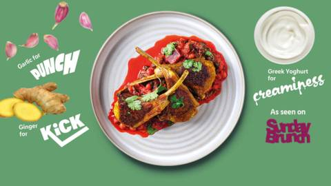 Punchy lamb chops with chickpeas and beetroot