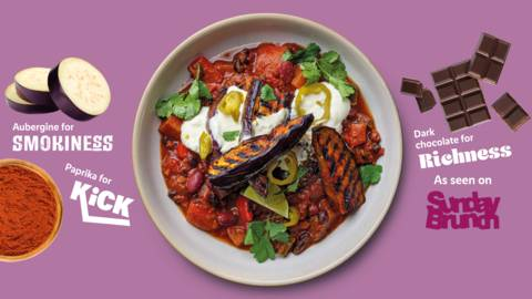 Simple and smoky aubergine chilli
