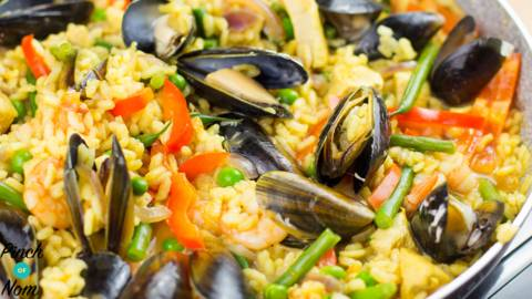 1 syn paella with mussels