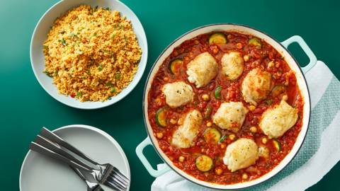 Quick chicken tagine with couscous