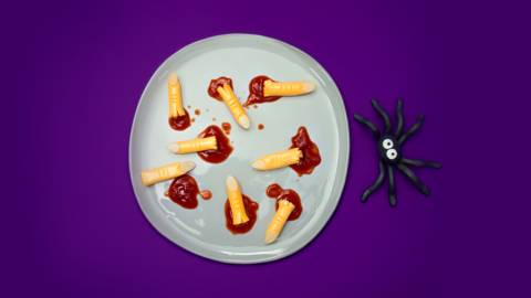 How to survive Halloween: feed the monsters fake fingers
