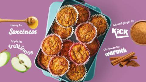 Fruity and warming squash muffins