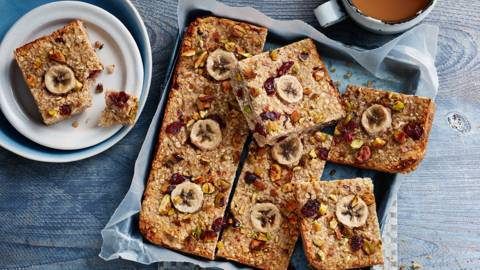 Banana bread flapjacks