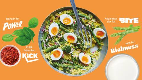 Vibrant spring vegetable kedgeree