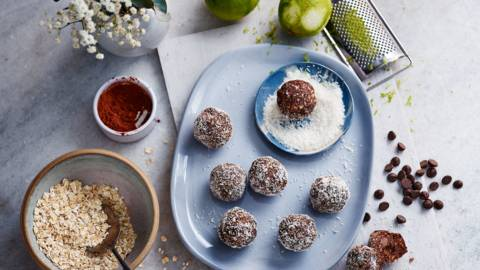 Key lime pie snack balls
