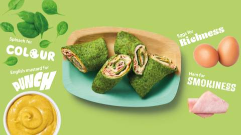 Punchy spinach wraps