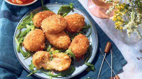 Ham and cheese croquetas