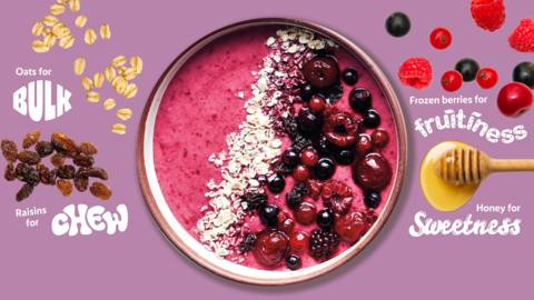 Berry bursting smoothie bowl