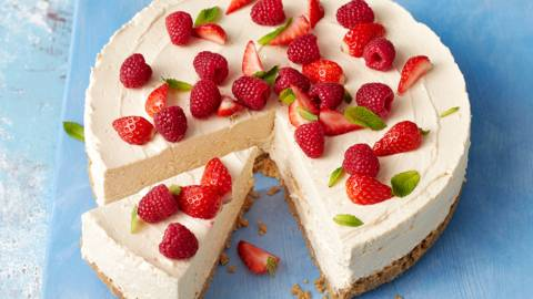 Whisky and tablet cheesecake