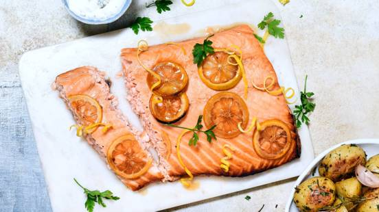 Earl Grey infused salmon