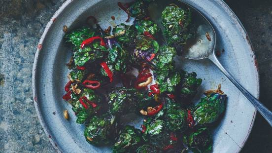 Stir-fried kalettes