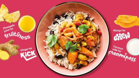 Tangy cashew and squash curry