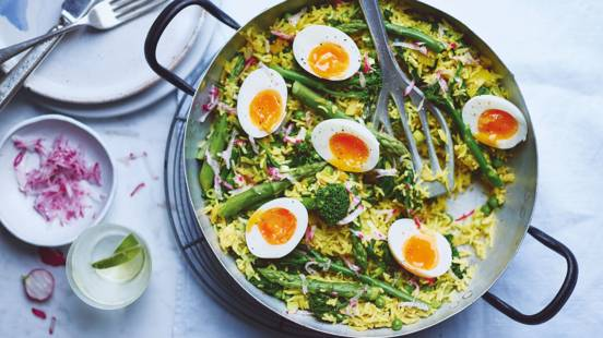 Spring vegetable kedgeree