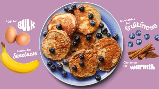 Fruity blueberry pancakes