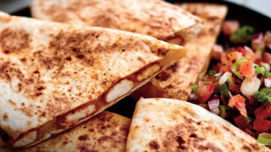 Chicken quesadilla with pico de gallo salsa