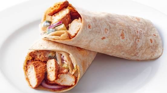 Cup winners' chicken wraps