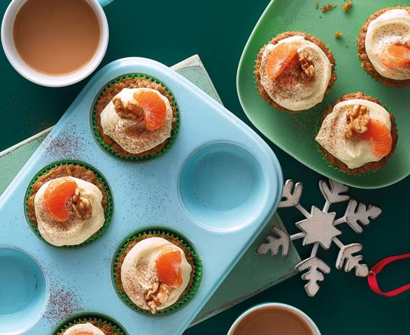 Parsnip and clementine muffins recipe image