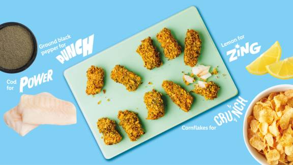 Zingy and herby fish fingers