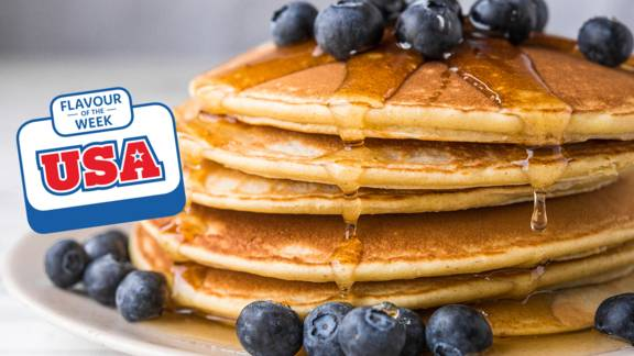 Fluffy American style pancakes