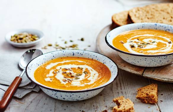 Caramelised carrot soup recipe image