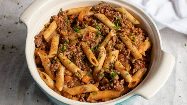 Beef and penne ragu