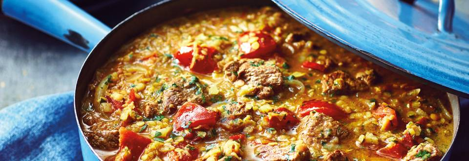 Slow-cooked Curried Lamb