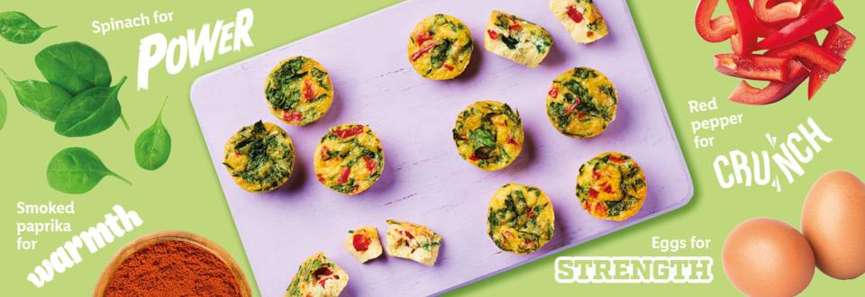 Smoky cheese and spinach frittatas