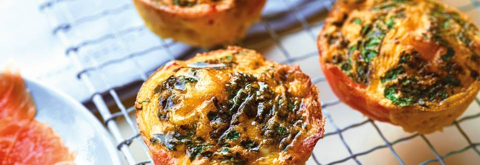 Egg and salmon muffins