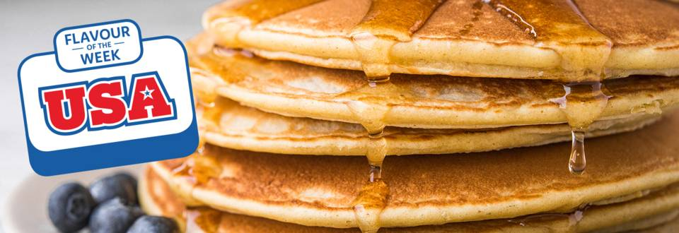 Fluffy American style pancakes recipe image