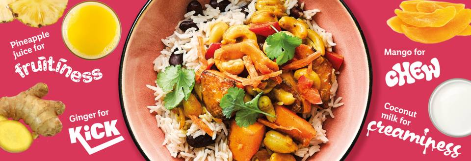 Tangy cashew and squash curry recipe image
