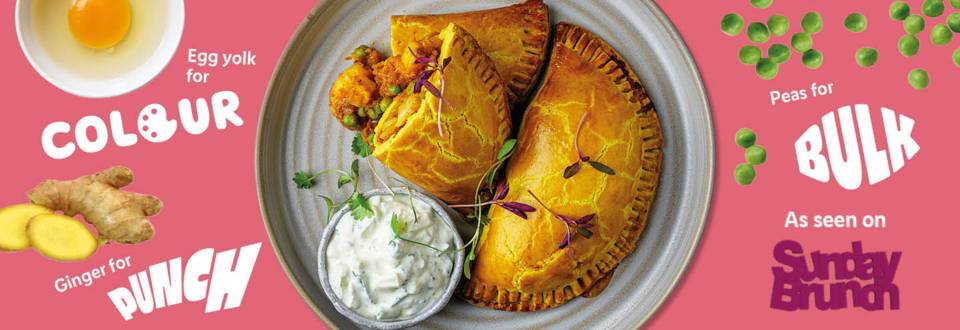Punchy prawn and potato curry pasties